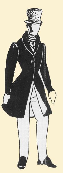 manteau homme xix ème siècle