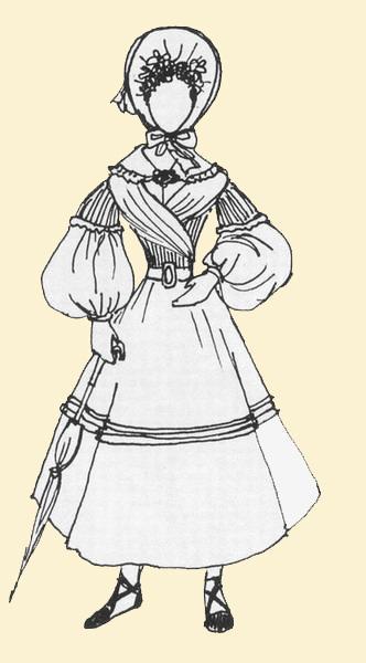 vetement femme 19eme siecle